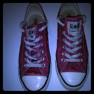 SPARKLY PINK CONVERSE SZ WOMENS 7